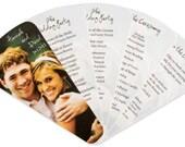 Wedding Program: Fan Wedding Program with Custom Photo Cover
