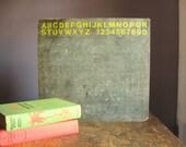 Vintage Chalkboard .. ABC's & 123's