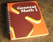 Vintage Book Journal .. General Math 1
