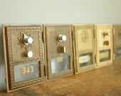 Vintage 1960s Post Office Box Door .. Grecian .. Small