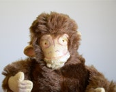 Vintage Mohair Monkey Doll .. Posable and Jointed