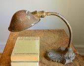 Vintage Goose Neck Lamp .. Industrial Lighting