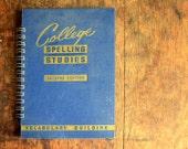 Vintage Book Journal .. College Spelling Studies