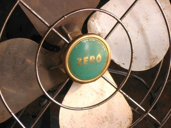 Working Vintage Electric Desk Fan .. Zero