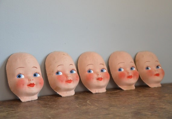 Vintage New-Old-Stock Doll Face