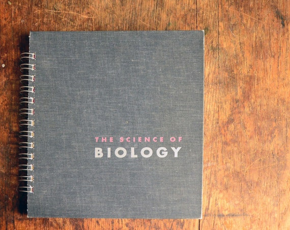 Vintage Book Journal .. The Science of Biology