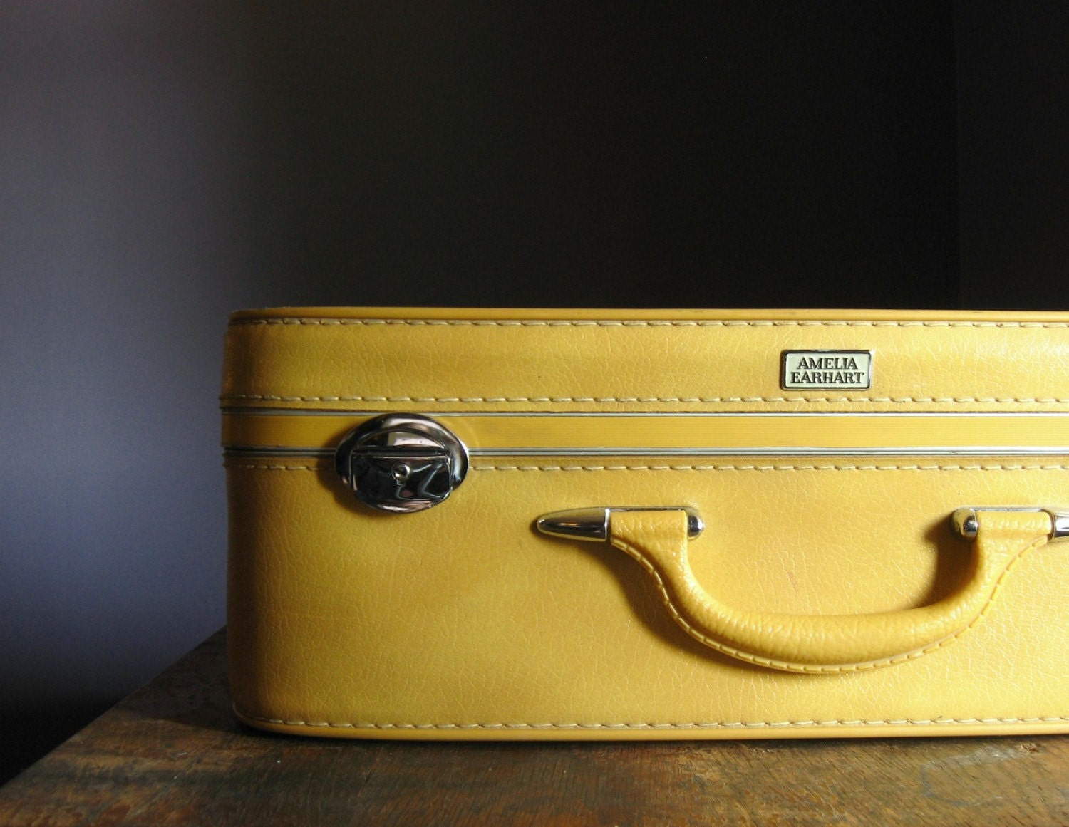 Vintage Yellow Suitcase | Luggage And Suitcases