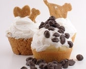 Dog Cupcakes--Birthday Or Training Class Graduation--Blackberry and Peanut Butter All-Natural Gourmet 4-Pack