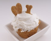 Dog Cupcakes--Apple Cider Peanut Butter and Yam PupCake Flavor, All-Natural Gourmet 4-Pack