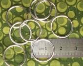16g Fine Silver Jump Rings (12.5mm ID)