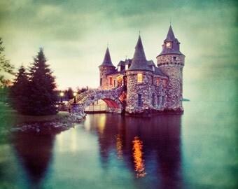 Castle Twilight - Fine Art Print - 8x8 print, Twilight, Sunset, Castle