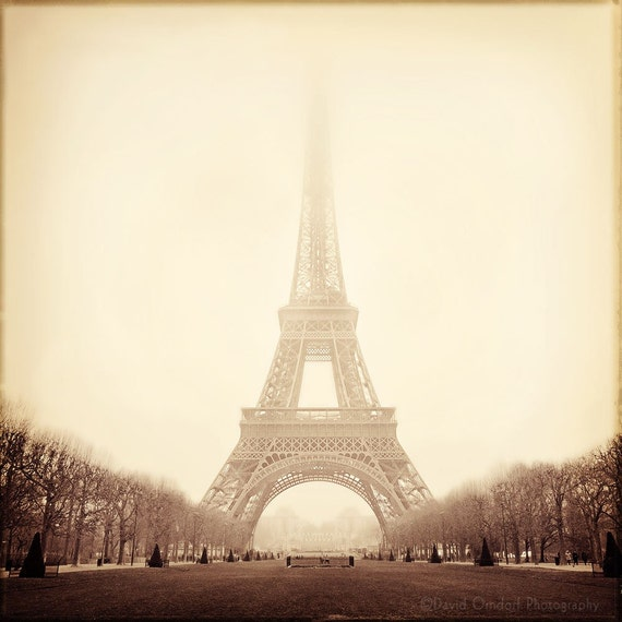 Eiffel Tower - Atmosphere Study -5x5 Fine Art Print - The Holga Suite