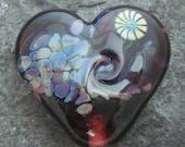 Twisted amethyst heart