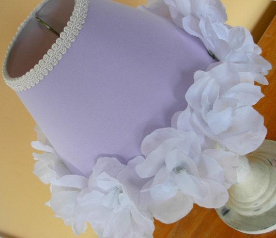 Purple Shabby Chic Bedroom: SHABBY CHIC LAVENDER LIGHT PURPLE LAMP SHADE CHILD BEDROOM