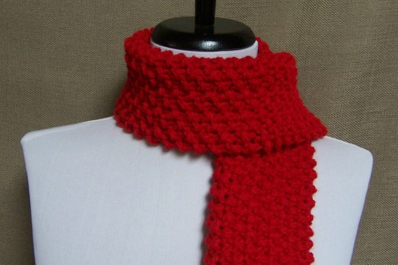 Mens or Unisex Scarf in Red - Ready To Ship