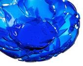 RESERVED For J- SALE - Broken Bottle Bowl - Cobalt