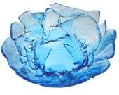 SALE - Broken Bottle Bowl - Sapphire