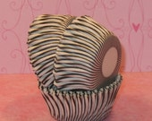 MINI Black and White Carnival Stripe Cupcake Liners  (45)