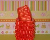 Orange Dotties Cupcake Liners   (Qty 40)
