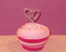 Double Heart Glitter Spoon  (12)