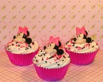 Minnie Mouse Ring Toppers  (12)  Minnie Mouse ONLY