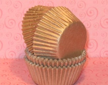 Designer MINI Gold Sheen Heavy Duty Cupcake Liners  (50)