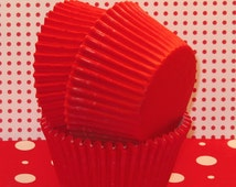 Classic Red Cupcake Liners    (45)