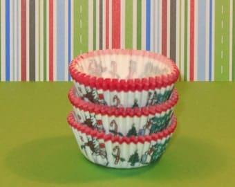 MINI Holiday Cupcake Liners   (Qty 50)