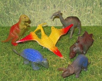Mini Dinosaur Collection Cake Toppers  (Set of 6)
