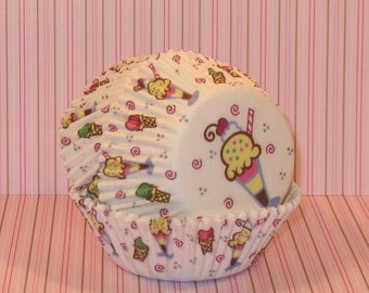 Ice Cream Sundae Cupcake Liners  (40)