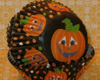 Happy Pumpkins Cupcake Liners  (40)