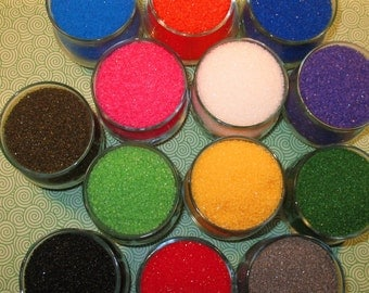 Sanding Sugar - You Choose 3 Colors  (1 1/2 oz Each) Sanding Sugar, Dusting Sugar, Cupcake Topping, Ice Cream Toppings