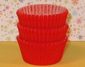 MINI Orange Cupcake Liners   (Qty 50)  Mini Orange Baking Cups, Mini Orange Muffin Cups, Mini Baking Cups, Mini Cupcake Liners,