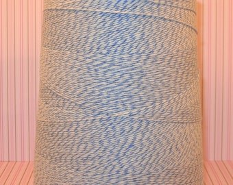 Baby Blue and White Bakery Twine   (25 Yds)