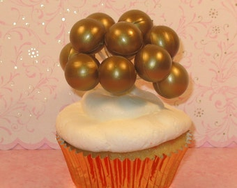 Small Gold Balloon Cluster (Set of 3)   DISCONTINUED