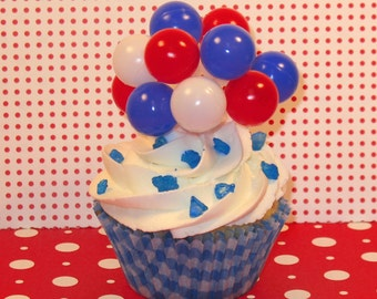 Red, White and Blue Small Balloon Cluster  (Set of 3)   DISCONTINUED
