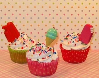 Popsickle Cupcake Picks  (12)