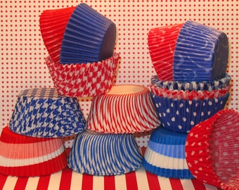 American Dream Patriotic Party Pack Cupcake Liners in Red, White and Blue   (Qty 140)
