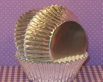 Silver Foil Cupcake Liners  (50)
