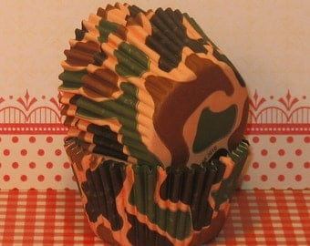 Camouflage Cupcake Liners  (32)