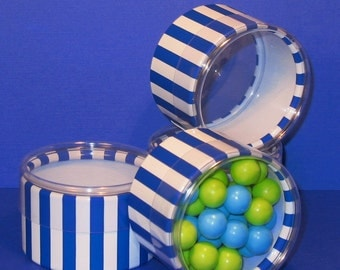 Blueberry Stripe Favor Boxes  (12)