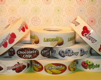 Fruity Flavor Labels - You Choose   (36 Total Labels)