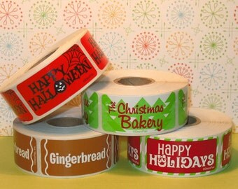 Holiday Bakery Labels (ONLY) - You Choose  (36)