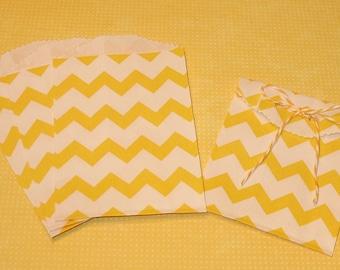 Itty Bitty Lemon Yellow Zig Zag Bags  (20)