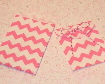 Itty Bitty Pink Berry Zig Zag Bags  (20)
