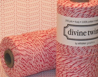 Cool Peppermint Tri Colored Divine Twine  (240 YD Roll)