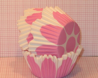 Pretty Pink Tulip Cupcake Liners  (45)