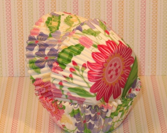 Spring Floral Cupcake Liners  (40)