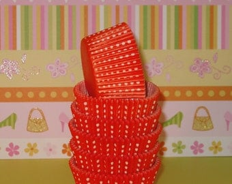 Orange Dotties Cupcake Liners   (Qty 40)
