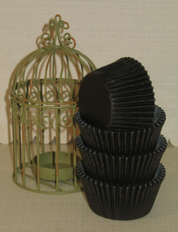 Mini Black Licorice Cupcake Liners    (Qty 50)